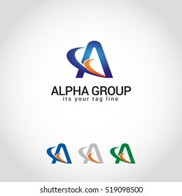 Alpha group (A) Logo