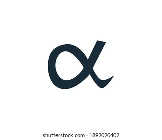 Alpha Icon Vector Logo Template Illustration Design