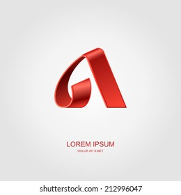 Alpha letter stylized vector, Letter of the alphabet, Vector illustration Eps 10