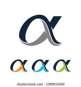 alpha logo, alpha icon, alpha symbol,