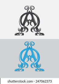 Alpha Omega, christian  sign and symbol art vector design
