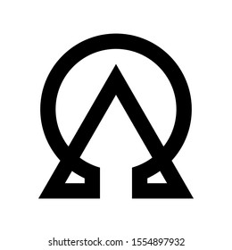 Alpha Omega Logo can be used for company, icon, etc