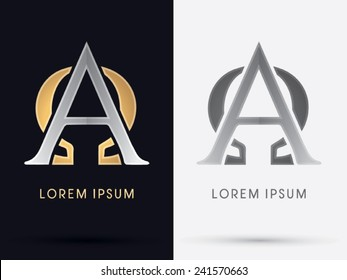 Alpha and omega sign, logo, symbol, icon, graphic, vector.