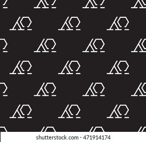 alpha and omega vector seamless pattern.