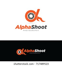 Alpha Shoot Photography Logo Symbol Icon