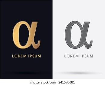 Alpha sign, logo, symbol, icon, graphic, vector.