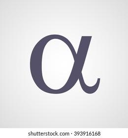 Alpha symbol vector