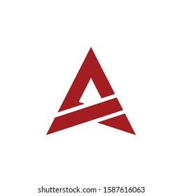 Alpha Triangle Logo Design, Abstract letter a arrow triangle logo, A Triangle Logo Design,  Monogram Design Vector Concept