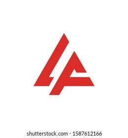 Alpha Triangle Logo Design, A Triangle Logo Design,  LA Triangle Logo Design,  AL Triangle Logo Design