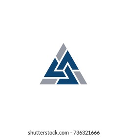 Alpha Triangle Twist Logo