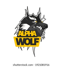 Alpha wolf logo that shows strength, strategy and ambition