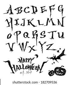 Halloween Alphabet Images, Stock Photos & Vectors | Shutterstock