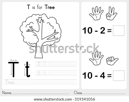 alphabet az tracing puzzle worksheet exercises stock vector royalty