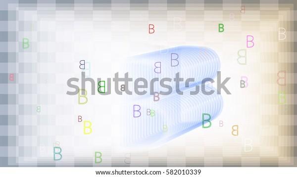 Alphabet B design texture