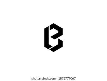 alphabet B logo vector design