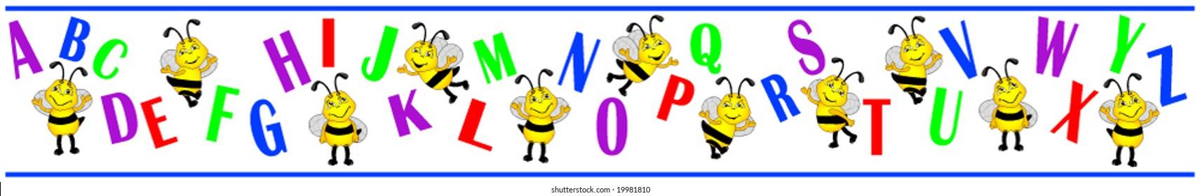 Alphabet Bee border.