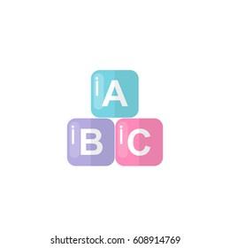 alphabet blocks icon. vector illustration