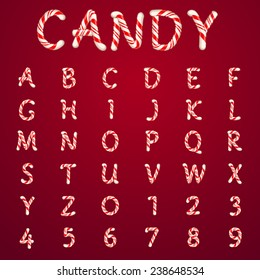 Alphabet candy style vector art and illustration.