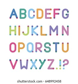 alphabet with circles