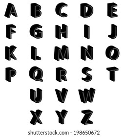 alphabet colorful font style. Vector illustration.