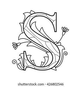 Alphabet Coloring Pages Hd Stock Images Shutterstock