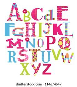 alphabet design. vector illustration