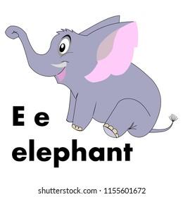 E for elephant images stock photos vectors shutterstock alphabet e e for elephant thecheapjerseys Gallery