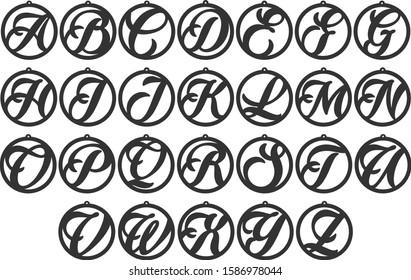 Alphabet Earrings - Earring templates