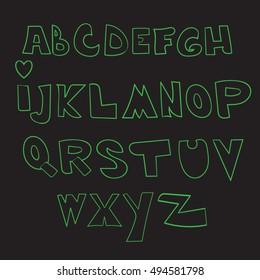 Alphabet, font, letter.