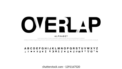 alphabet font modern overlap style. Fashion calligraphy designs. Typography fonts uppercase. vector illustration