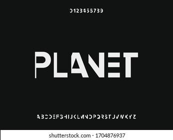 Alphabet font typeface. Handcrafted handwritten vector design. vintage Hand Drawn. Retro Typography. Vector Illustration. planet