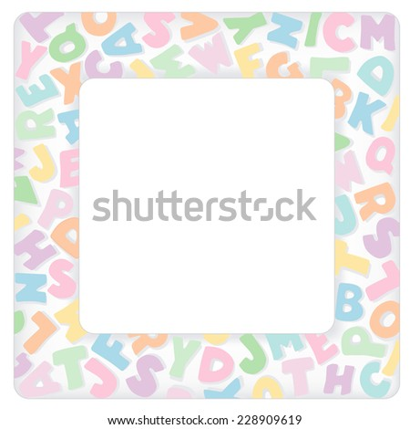 Alphabet frame square multi color pastel stock vector royalty free alphabet frame square multi color pastel letter border with copy space for baby books solutioingenieria Gallery