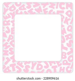 Alphabet frame square pastel pink letter stock illustration alphabet frame square pastel pink letter border with copy space for baby books albums solutioingenieria Gallery