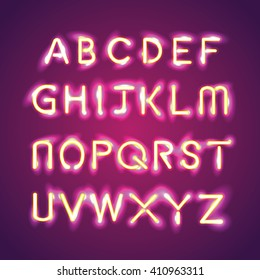 alphabet illumination text group