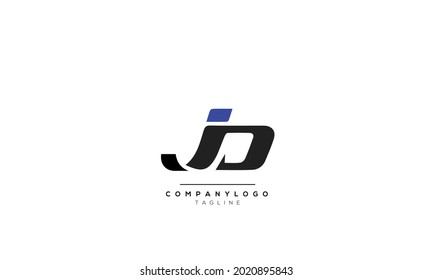 Alphabet JD DJ Initial Letter Monogram Icon Logo vector illustration abstract  web character logotype  initials icon badge business brand