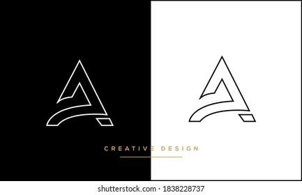 Alphabet Letter A, Alpha Logo Monogram Emblem