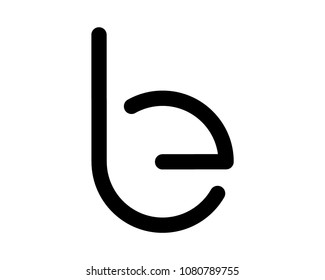 alphabet letter b and e logo design