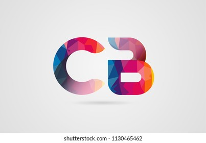 alphabet letter cb c b logo combination design with rainbow colors suitable for a company or business
