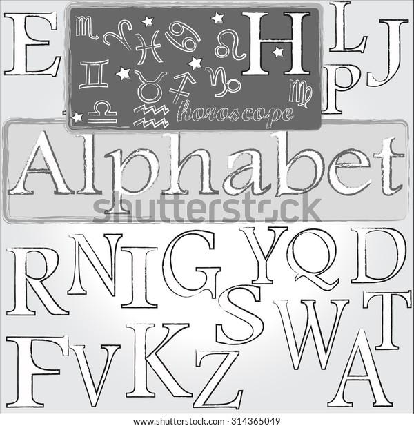 35164f7b8 Alphabet Letter H Horoscope Stock Vector (Royalty Free) 314365049