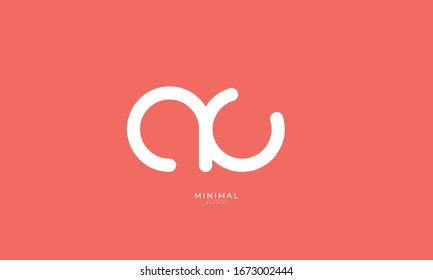 Alphabet letter icon logo AC