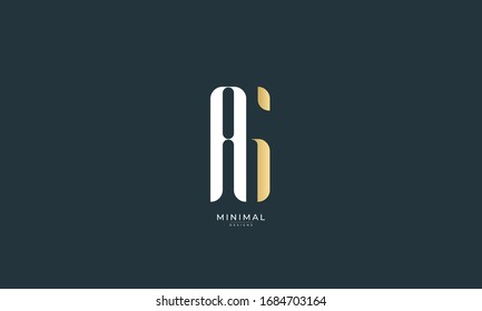 alphabet letter icon logo AG