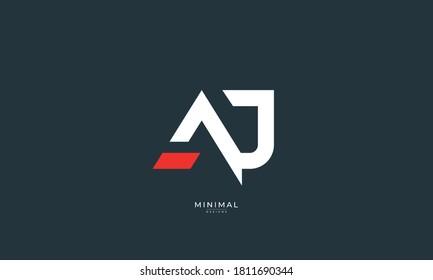 Alphabet letter icon logo AJ