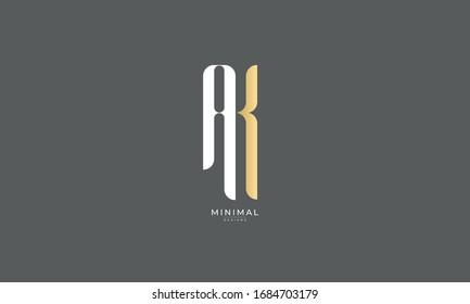 alphabet letter icon logo AK