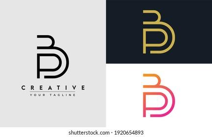 Alphabet letter icon logo BB or PB