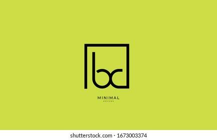 alphabet letter icon logo BC
