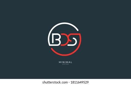 Alphabet letter icon logo BDS