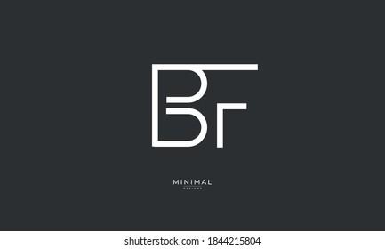 Alphabet letter icon logo BF
