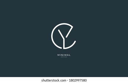 Alphabet letter icon logo CY or YC