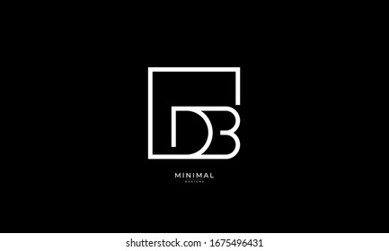 alphabet letter icon logo DB