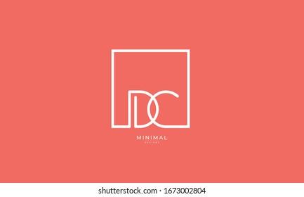 alphabet letter icon logo DC